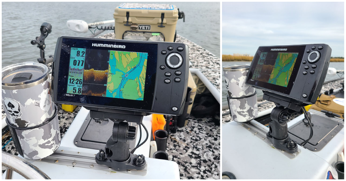 humminbird helix fish finder mount for kayaks and boats