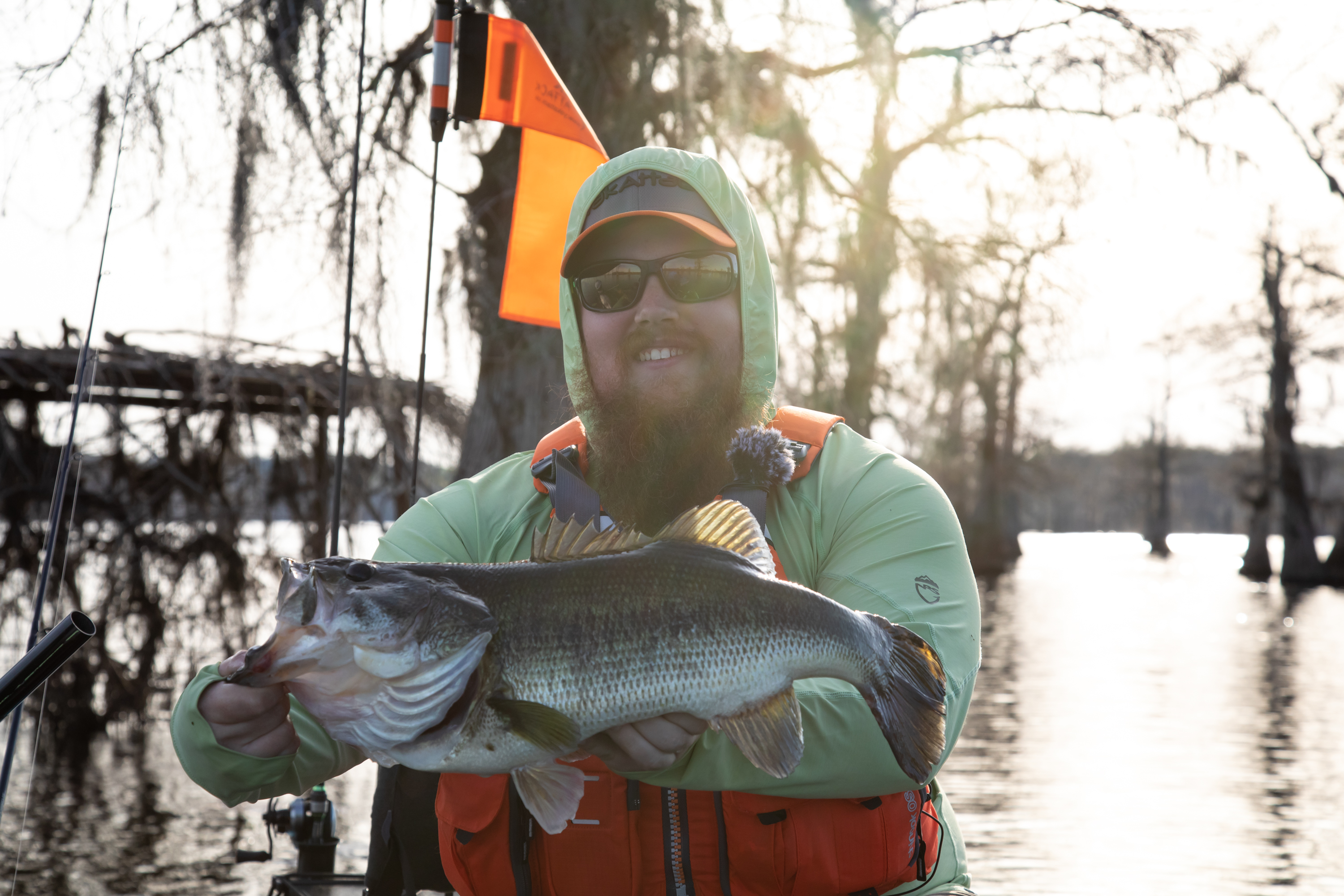 John Hipsher Largemouth Bass on Lake Caddo